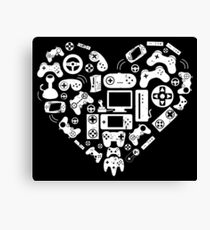 Video Game Heart Canvas Print