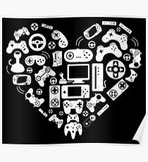 Video Game Heart Poster