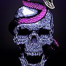 Skull and snake by jordygraph