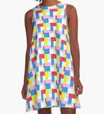 Simple Block Colour Pattern A-Line Dress