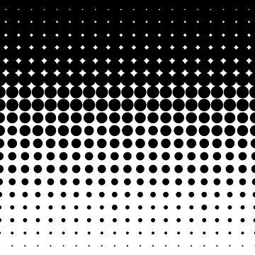 Gradient halftone dots (black to white) by pattypattern