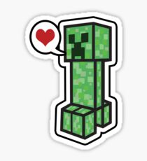 Creeper Love Sticker