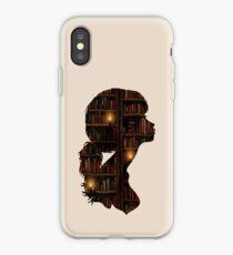 Vinilo o funda para iPhone La niña ama los libros