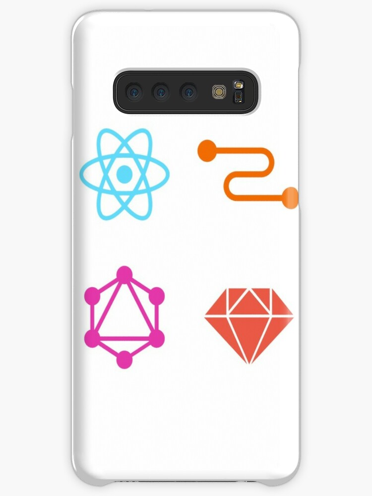 'reactJS, graphQL, relayJS and ruby on rails' Case/Skin for Samsung Galaxy  by willywilly17