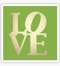 Love Green and Gold Sticker