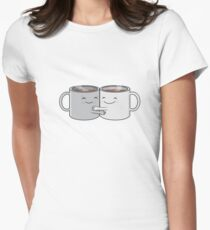 Mugs of Hugs Womens Fitted T-Shirt