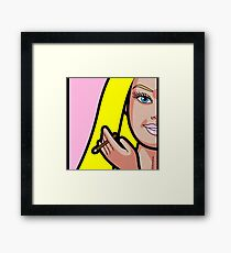 BARBIE SMOKING Framed Print