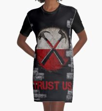 Roger Waters 'The Wall' - TRUST US Graphic T-Shirt Dress