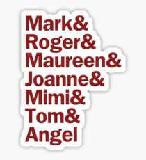 Rent Characters | White & Red Sticker