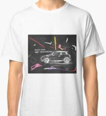 Scribble car on chalkboard Classic T-Shirt