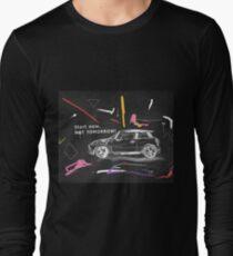 Scribble car on chalkboard Long Sleeve T-Shirt