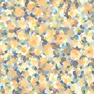 Mango Symphony Yellow Abstract Pattern by Kelly Dietrich