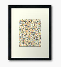 Mango Symphony Yellow Abstract Pattern Framed Print