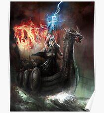 Dragon Viking Ship Poster