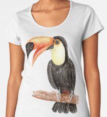 Toucan Do It - plain - Watercolour Painting Women's Premium T-Shirt