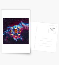 Cat Bacon and Taco Space Postcards