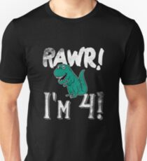Rawr! Im 4! 4th birthday Unisex T-Shirt