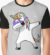 Dabbing Unicorn Shirt Dab Hip Hop Funny Magic Graphic T-Shirt