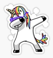 Dabbing Unicorn Shirt Dab Hip Hop Funny Magic Sticker