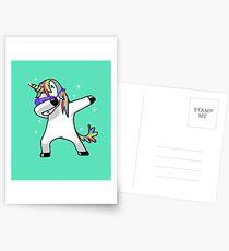Dabbing Unicorn Shirt Dab Hip Hop Funny Magic Postcards