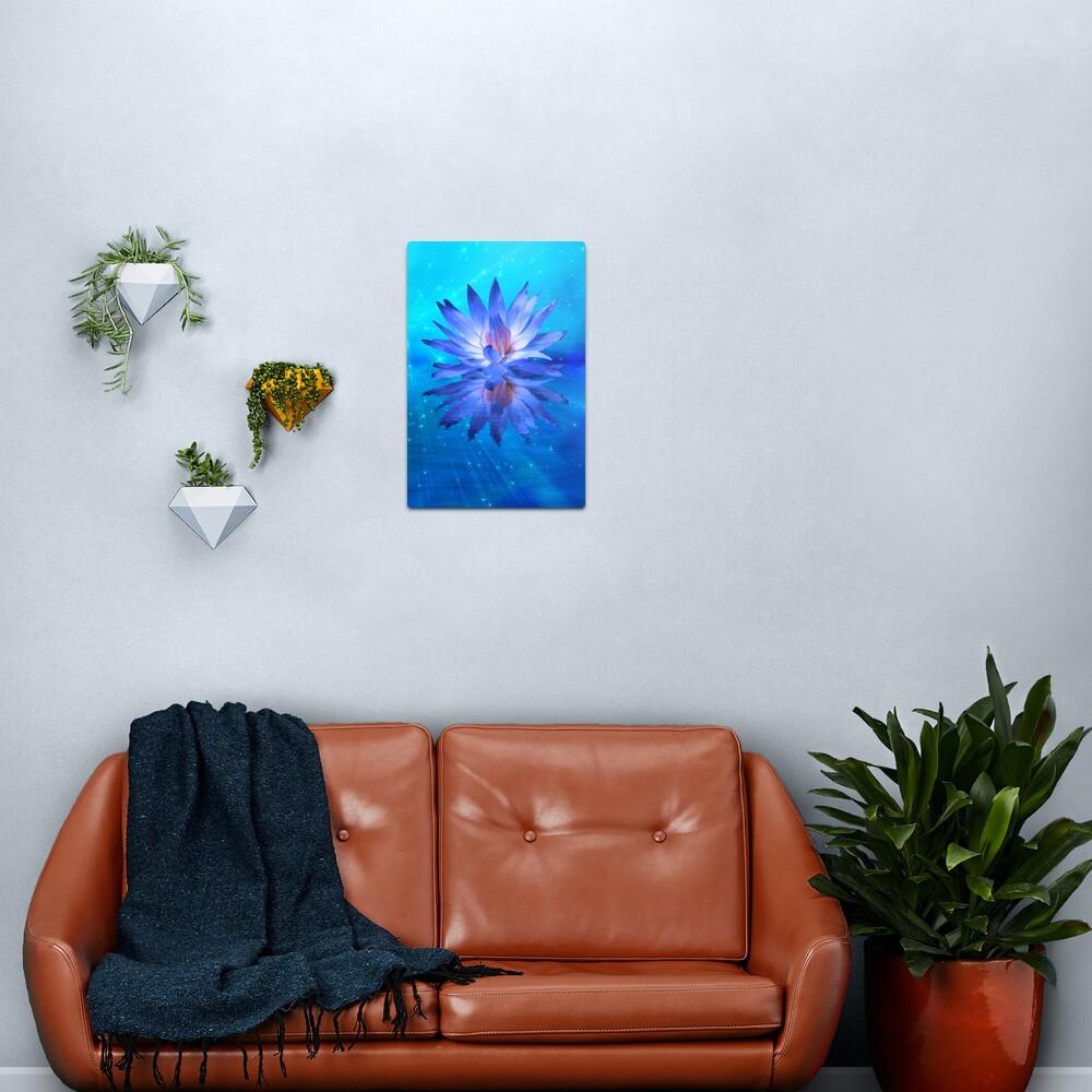 Blue Water Lily Metal Print