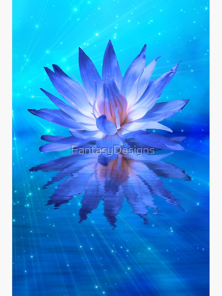 Blue Water Lily by FantasyDesigns