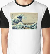 Hokusai, The Great Wave off Kanagawa, Japan, Japanese, Wood block, print Graphic T-Shirt