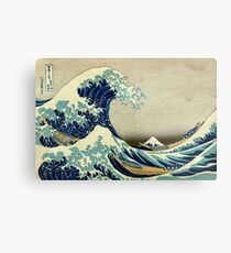 Hokusai, The Great Wave off Kanagawa, Japan, Japanese, Wood block, print Metal Print