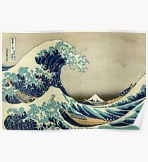 Hokusai, The Great Wave off Kanagawa, Japan, Japanese, Wood block, print Poster