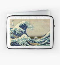 Hokusai, The Great Wave off Kanagawa, Japan, Japanese, Wood block, print Laptop Sleeve