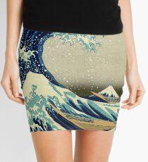 Hokusai, The Great Wave off Kanagawa, Japan, Japanese, Wood block, print Mini Skirt