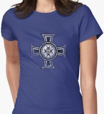 Kekistani Cross -weathered- Womens Fitted T-Shirt