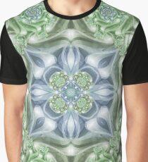 Shades of Green Mandala Graphic T-Shirt