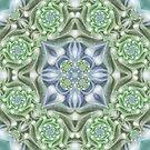 Shades of Green Mandala by Kelly Dietrich