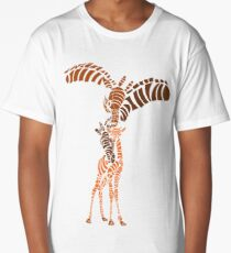 Giraffe Family Animals T Shirt Long T-Shirt