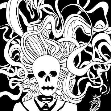Smoking skeleton by yatskhey