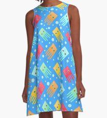 Box Jellyfish (blue) A-Line Dress