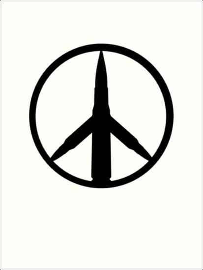 Bullet Peace Sign Art Prints By Thekshop44 Redbubble
