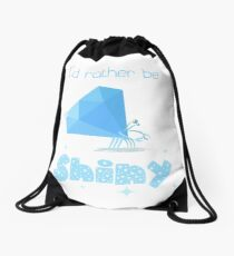 Shiny Diamond Crab (light) Drawstring Bag