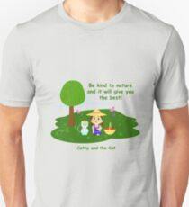 Cathy and the Cat with Nature Unisex T-Shirt