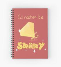 Shiny Golden Crab (dark) Spiral Notebook
