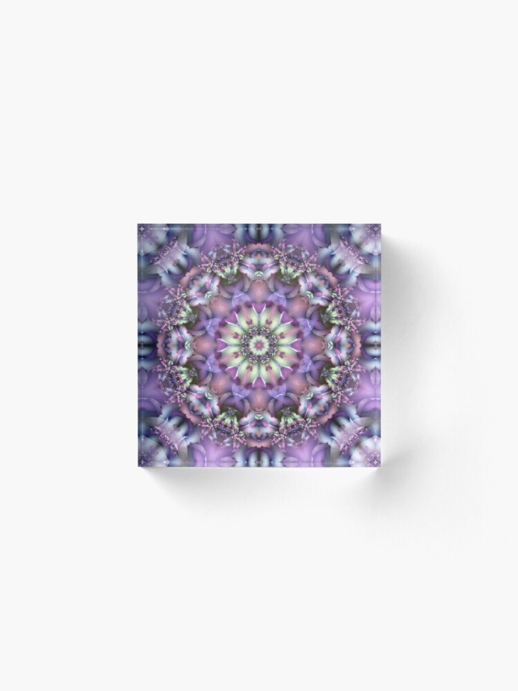 Alternate view of Lilac Mandala Acrylic Block
