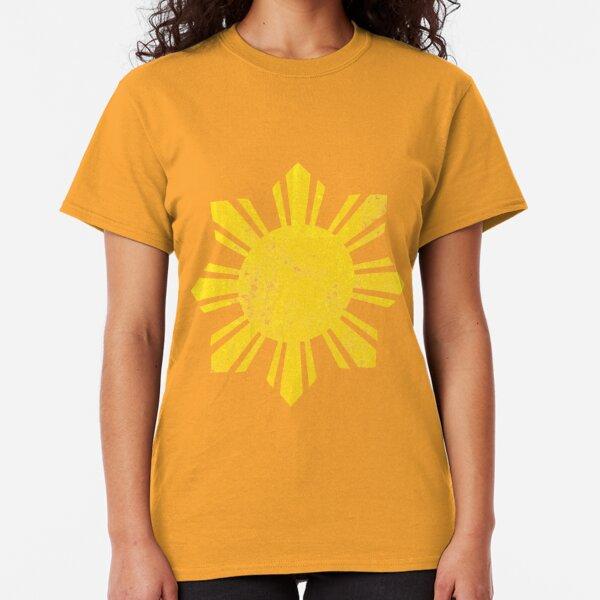 Gold Flag Philippines Sun  Classic T-Shirt