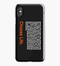 T2 Trainspotting Choose Life iPhone Case