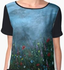 Stormy Summer Skies Women's Chiffon Top