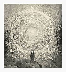Dante, Heaven, Heavenly, The Divine Comedy, Gustave Doré, Highest, Heaven Photographic Print
