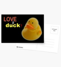 Love a duck Postcards