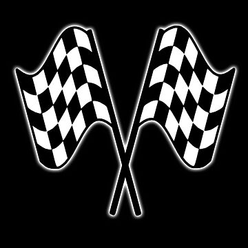 MOTOR SPORT, RACING, Racing Cars, Race, Checkered Flag, Le Mans, Flutter, WIN, WINNER, Chequered Flag, Double, Finish line, BLACK by TOMSREDBUBBLE