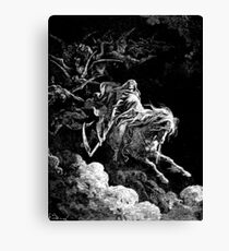 DEATH, Death on the Pale Horse, Revelation, Revenge, Gustave Doré, (1865), Revelations, Seven Seals Canvas Print