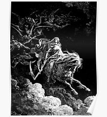 DEATH, Death on the Pale Horse, Revelation, Revenge, Gustave Doré, (1865), Revelations, Seven Seals Poster